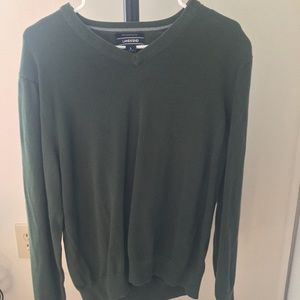 EUC Land's End V-Neck Green Sweater